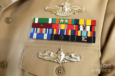 Close-up View Of Military Decorations Poster by Stocktrek Images