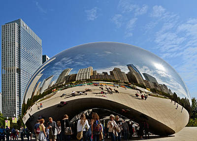 Cloud Gate - The Bean - Millennium Park Chicago Poster by Christine Till