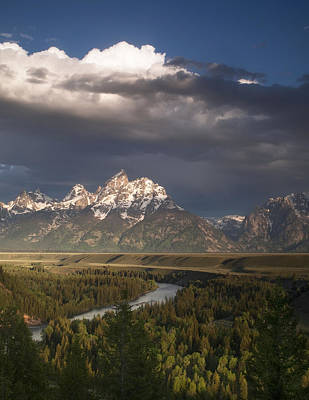 Clouds Over The Tetons Poster by Andrew Soundarajan