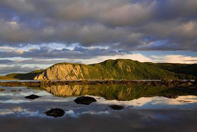 Coastal Cliffs In Evening Light Poster by John Sylvester