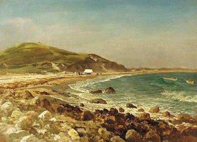 Coastal Scene Poster by Albert Bierstadt