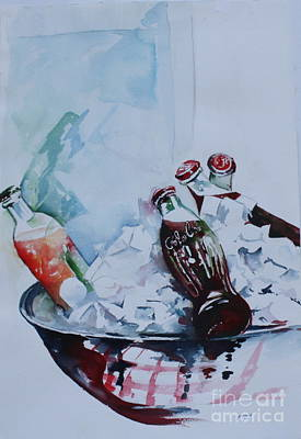 Coca Cola On Ice Poster by Peg Ott Mcguckin