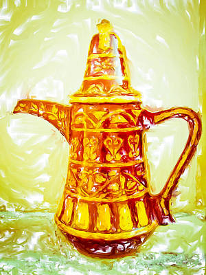 Coffee Pot Poster by Tom Gowanlock