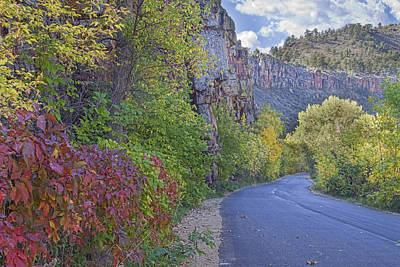 Colorful Colorado Lyons Autumn Road Poster by James BO  Insogna
