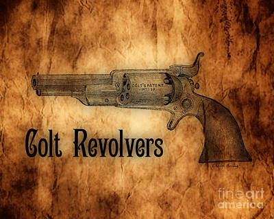 Colt Revolvers Poster by Cheryl Young