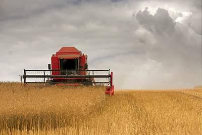 Combine Harvester, North Yorkshire Poster by John Short