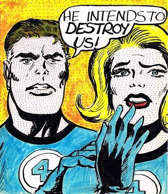 Comic Strip Poster by Mel Thompson