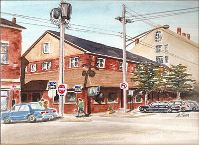 Commercial Street Pub Poster by Andrea Timm