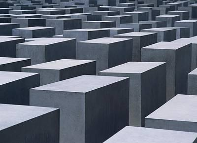 Concrete Blocks At Jewish Holocaust Poster by Axiom Photographic