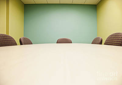 Conference Room Table And Chairs Poster by Jetta Productions, Inc