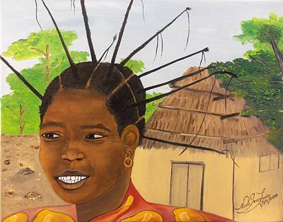 Congolese Woman Poster by Nicole Jean-Louis