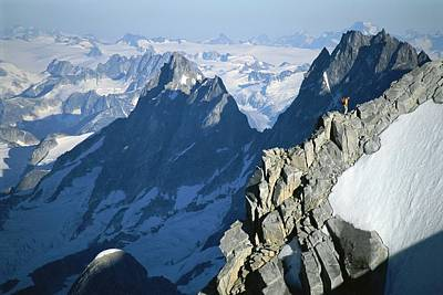 Conrad Anker On Mount Combatant, Coast Poster by Jimmy Chin