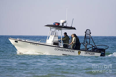 Conservation Patrol Boat Poster by Christopher Purcell