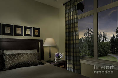 Contemporary Bedroom With Window Poster by Robert Pisano