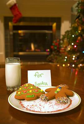 Cookies For Santa Claus Poster by Carson Ganci