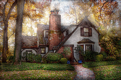 Cottage - Westfield Nj - Grandma Ridinghoods House Poster by Mike Savad