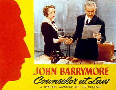 Counsellor At Law, Bebe Daniels, John Poster by Everett