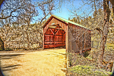 Covered Bridge Poster by Cheryl Young