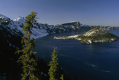 Crater Lake From Inspiration Point Poster by Phil Schermeister