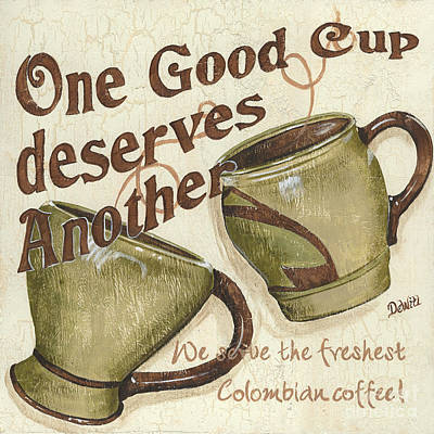 Cream Coffee 2 Poster by Debbie DeWitt