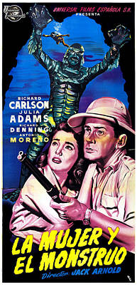 Creature From The Black Lagoon, Aka La Poster by Everett