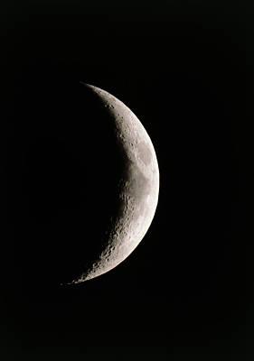 Crescent Moon Showing Mare Serenitatis Poster by John Sanford