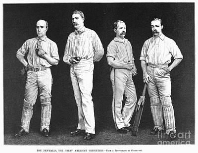Cricket Players, 1889 Poster by Granger