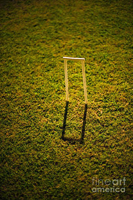 Croquet Wicket Casting A Shadow Poster by Thom Gourley/Flatbread Images, LLC