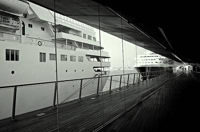Cruise Ships Poster by Dean Harte