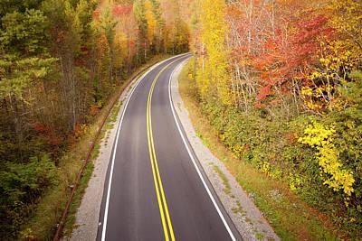 Curvy Road Blue Ridge Parkway, North Carolina Poster by Lightvision, LLC