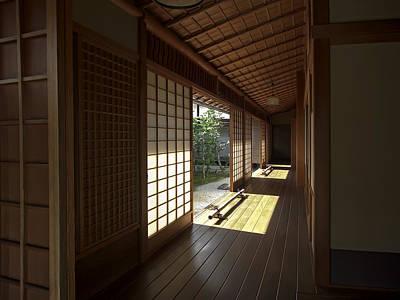 Daitoku-ji Zen Temple Veranda - Kyoto Japan Poster by Daniel Hagerman