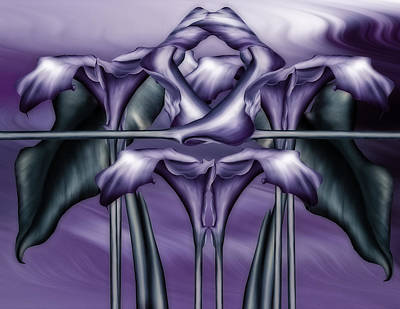 Dance Of The Purple Calla Lilies V Poster by Georgiana Romanovna