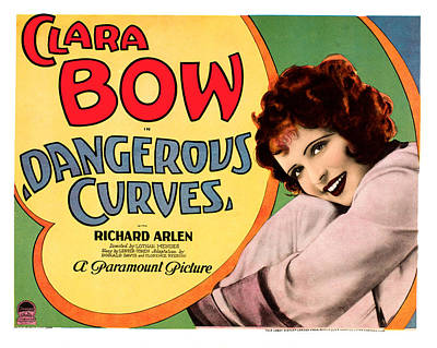 Dangerous Curves, Clara Bow, 1929 Poster by Everett