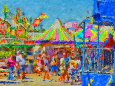 Day At The Fair Poster by Mike OBrien
