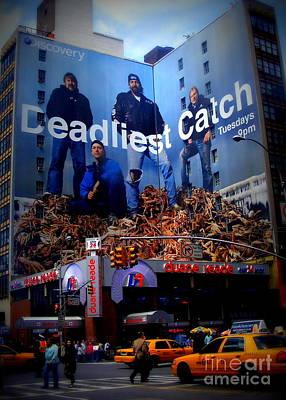 Deadliest Catch New York's Duane Reade Building Poster by Ms Judi