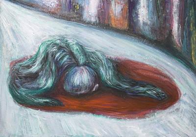Death Like A Dog The Execution Poster by Kazuya Akimoto