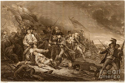 Death Of General Warren, 1775 Poster by Photo Researchers