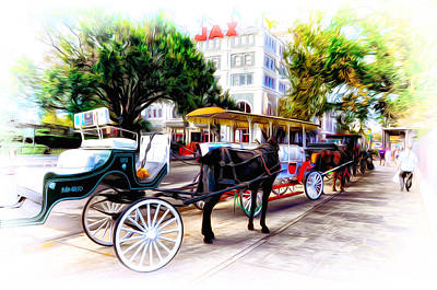 Decatur Street At Jackson Square Poster by Bill Cannon
