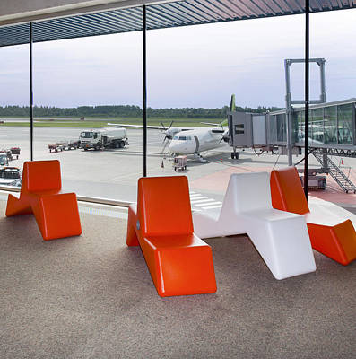 Departure Lounge Waiting Area Poster by Jaak Nilson