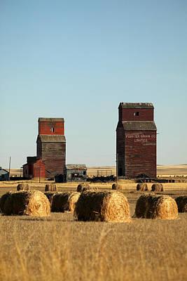 Derelict Grain Elevators Stand Poster by Pete Ryan