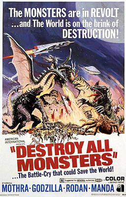 Destroy All Monsters, 1968 Poster by Everett
