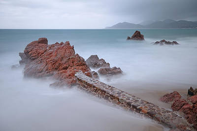 Diagonal Rocks Poster by © Yannick Lefevre - Photography