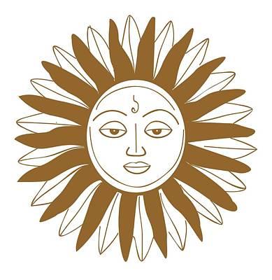 Digital Illustration Of Hindu Sun God Poster by Dorling Kindersley