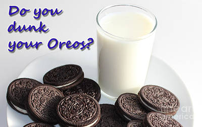 Do You Dunk Your Oreos Poster by Barbara Griffin