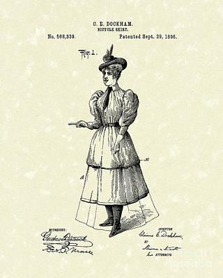 Dockham Bicycle Skirt 1896 Patent Art  Poster by Prior Art Design