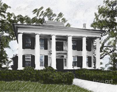 Dodd House Georgia Plantation Poster by Lianne Schneider