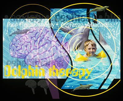 Dolphin Therapy Poster by Victor Habbick Visions