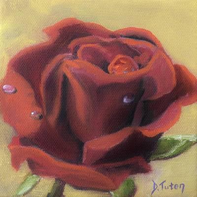 Doris's Rose Poster by Donna Tuten