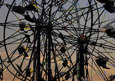 Double Ferris Wheel Poster by David Lee Thompson