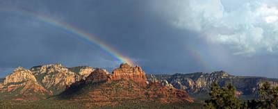 Double Rainbow Over Sedona Poster by Dan Turner
